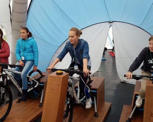 Viktoria Rebensburg zu Besuch am Gymnasium Tegernsee