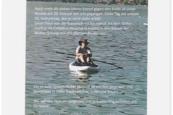 Abschied von Nicolas Kutter
